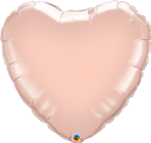 "Rose Gold Heart Foil Balloon (36"") 1pc"